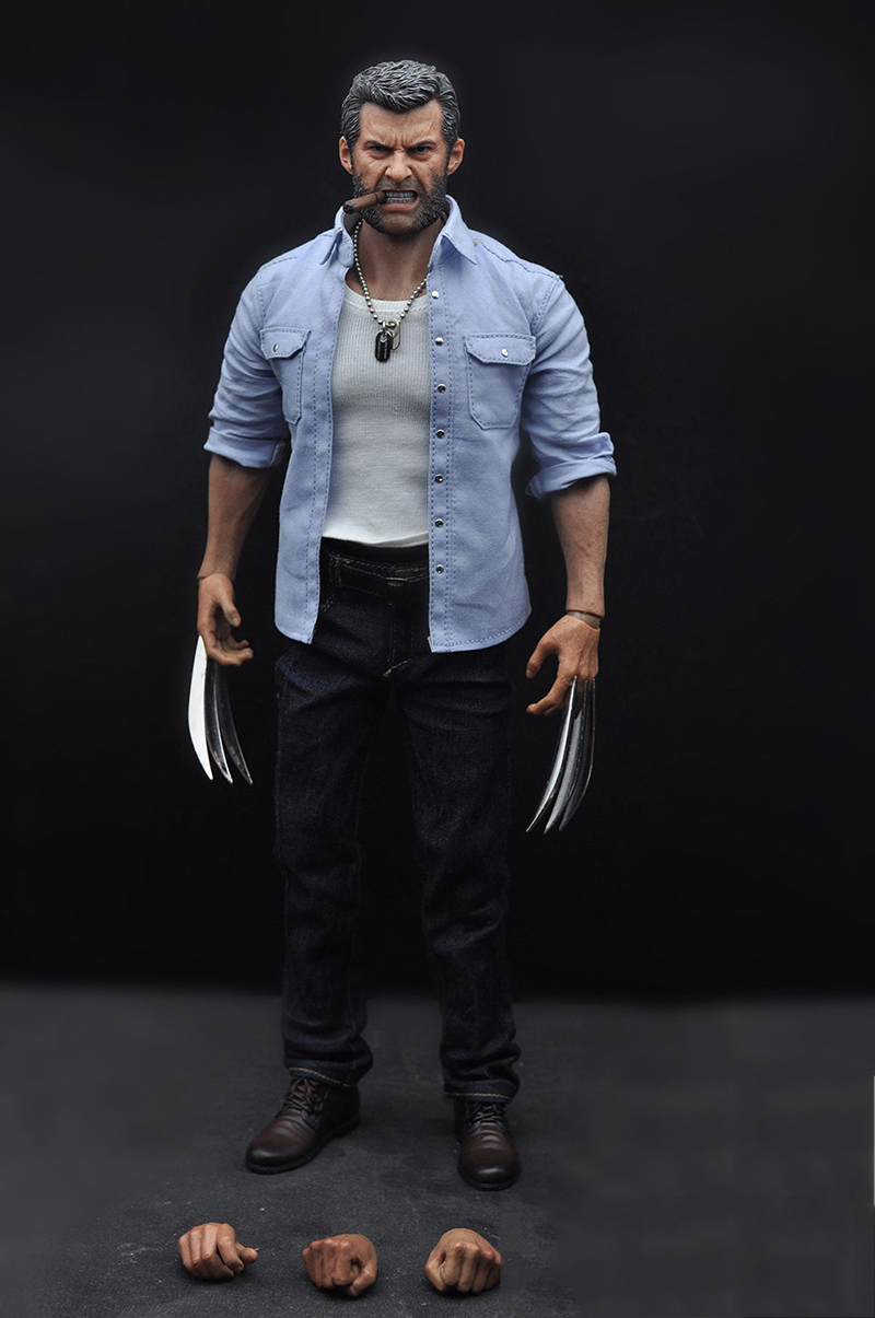 1/6 Scale Full Set Hugh Jackman  Wolverine Angry Logan Collectible Action Figure Model Toy 1 6 scale resident evil 6 leon scott kennedy full set action figure for collections