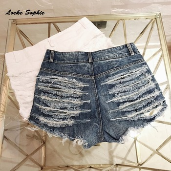 1pcs High waist Sexy Womens jeans denim shorts 2019 Summer Fashion Denim broken hole shorts Ladies Skinny super sexy short jeans 6