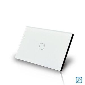Сенсорный выключатель, Стандартный, 100 в/220 В, для дома, с красивым внешним видом, 1 gang, 1 way, настенный выключатель света, бесплатная доставка