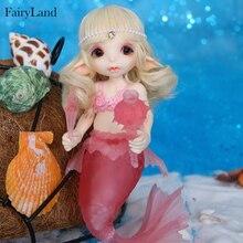 구체관절 인형  무료 배송 realfee mari bjd 인형 1/7 인어 공주 환상적인 공 관절 인형 장난감 어린이를위한 독특한 선물 fairyland