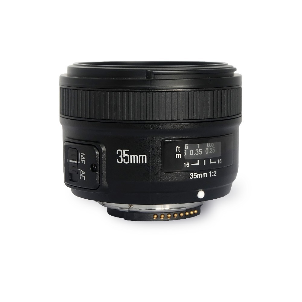 YONGNUO YN35mm F2.0 Wide-angle AF/MF Fixed Focus Lens for Nikon F Mount D7500 D7200 D7100 D5600 D3200 D3300 D3100 D5100 D300 D90 original yongnuo camera lens 35mm f2 for nikon large aperture auto focus lens for nikon 7000 d5100 d5000 d3100 d3000 d60