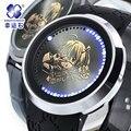 2016 Xingyunshi Homens Luminous Digital Relógio Do Esporte Da Moda Marca de Luxo Pulseira de Couro Relógios de Pulso Relogio masculino Frete Grátis