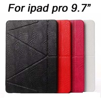New Luxury High Quality Stent Deform Crocodile Leather Cover Case For Ipad Pro 9 7 Ipad