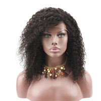 Eseewigs 360 Lace Frontal Wigs Pre Plucked Baby Hair Short Kinky Curly Remy Human Hair 360 Lace Wig Black Women Bleached Knots