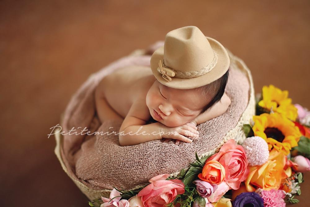 Newborn full moon baby children baby photography hat headdress photography props studio photo hair accessories hat