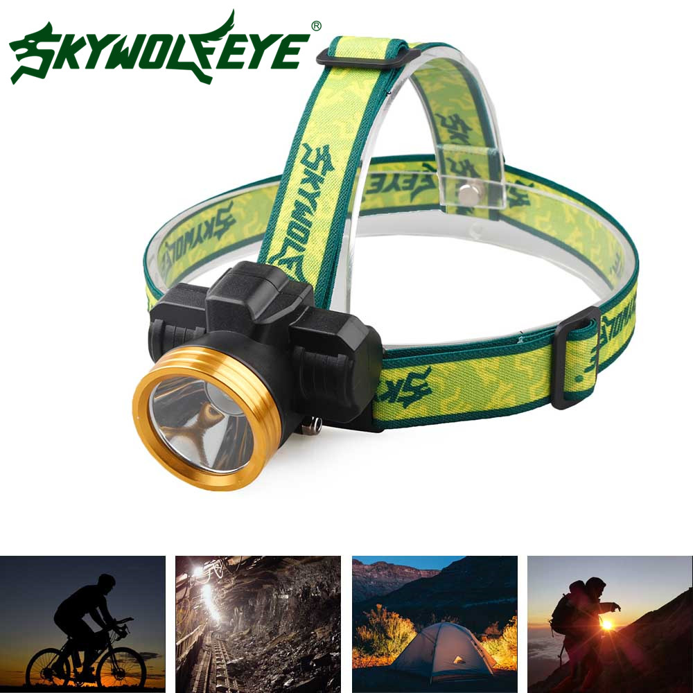 SKYWOLFEYE LED Headlight Adjustable 3 Modes Headlamp Waterproof Rechargeable Internal Battery Faro Outdoor Aluminium Head Lamp