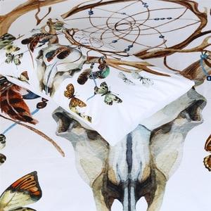Image 3 - Cammitever فراشة زاك مجموعة مفروشات الملك الحجم فاخرة طباعة البوهيمي أغطية 3d الكون حاف الغطاء