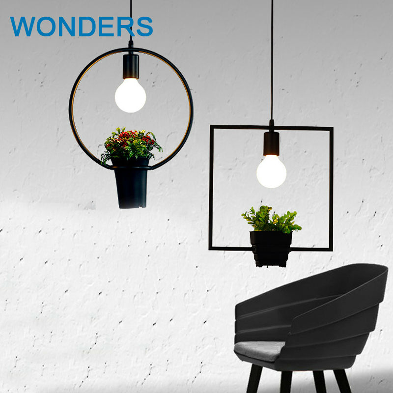 Countryside style plant pot pendant light Square round shape wrought iron droplight restaurant cafe bar garden deco hanging lampCountryside style plant pot pendant light Square round shape wrought iron droplight restaurant cafe bar garden deco hanging lamp