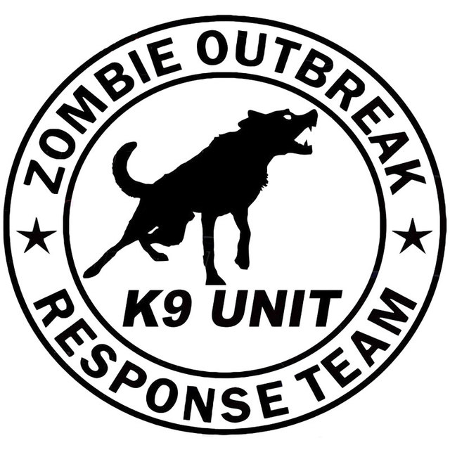 19cm17 8cm Zombie Outbreak Response Team K9 Unit Canine Dog Zombies