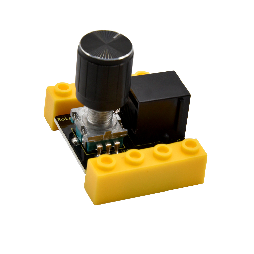 Kidsbits Blocks Coding Rotary Encoder Module For Arduino STEAM EDU (Black And Eco Friendly)