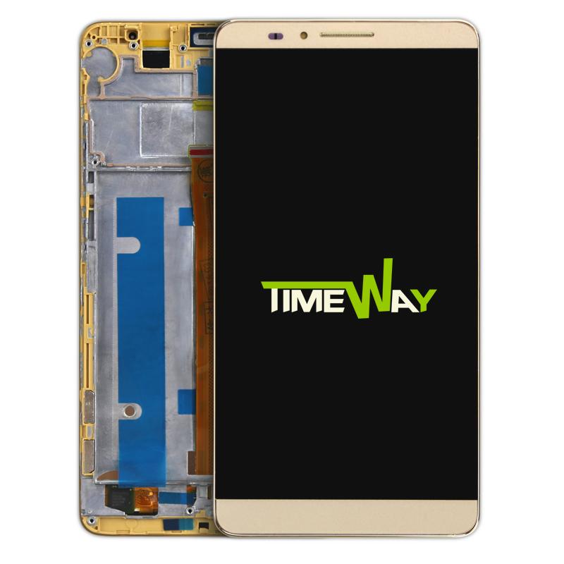 Prix pour Écran lcd + Écran Tactile Digitizer Assemblée Pour Huawei Mate 7 Mate7 Téléphone Portable 6.0 pouce avec Cadre