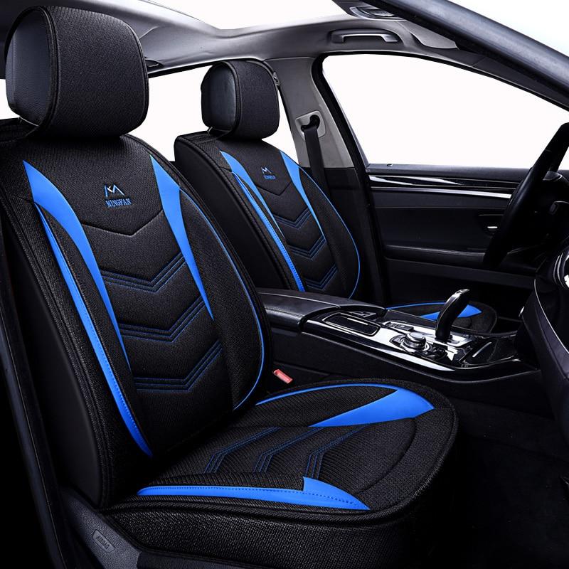 (Frente + Traseira) universal assento de carro de Linho cobre Para Honda Accord FIT Odyssey CIDADE CR-V XR-V Elemento Piloto URV acessórios do carro auto