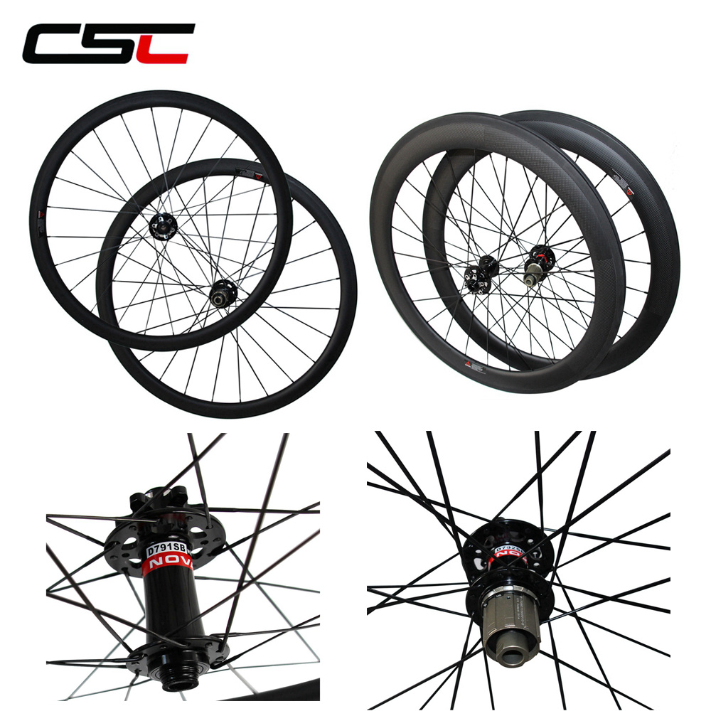 Bicycle Disc V U Shape Wheelset Disc Brake 6 Bolt Hubs 24/38/40/50/60/88mm Carbon Clincher Tubular Cyclocross Wheels Carbon Bike