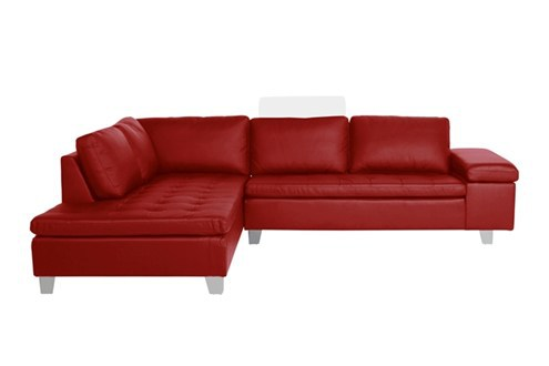 Cowhide leather sofa l shaped sofa thick skinned european for Apartment size leather sofa