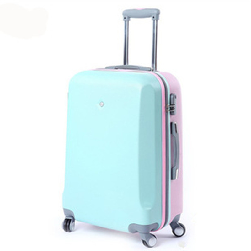 KUNDUI 2024 inch Aluminum frame Boarding Caster Trolley bag spinner ABS PC Hit color suitcase luggage
