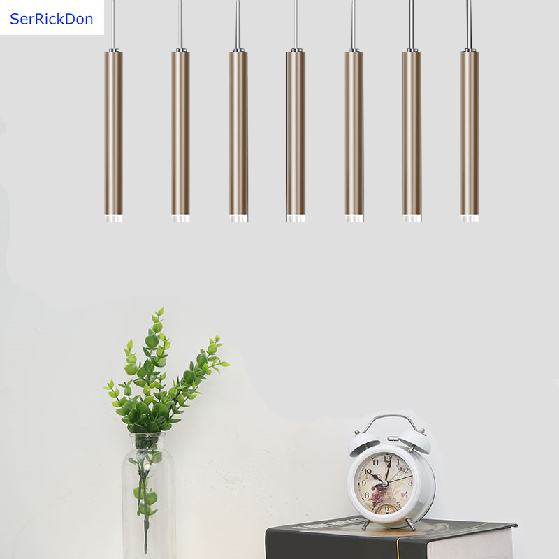 LED long cylinder chandelier is suitable for dining room living room staircase corridor bar etc in Pendant Lights from Lights Lighting