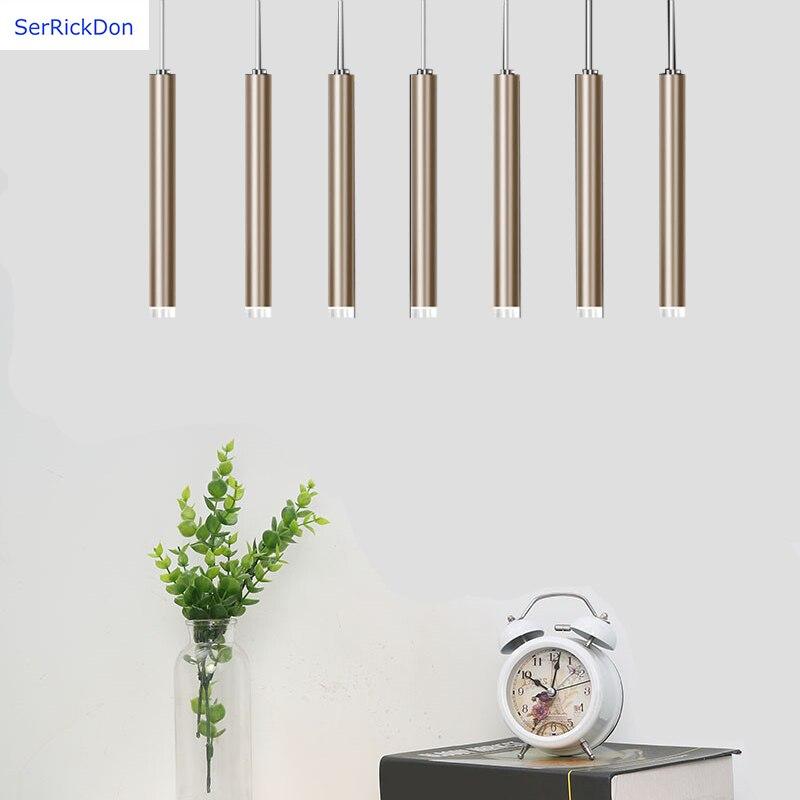 LED longo lustre cilindro é adequado para sala de jantar/sala de estar/escada/corredor/bar. etc