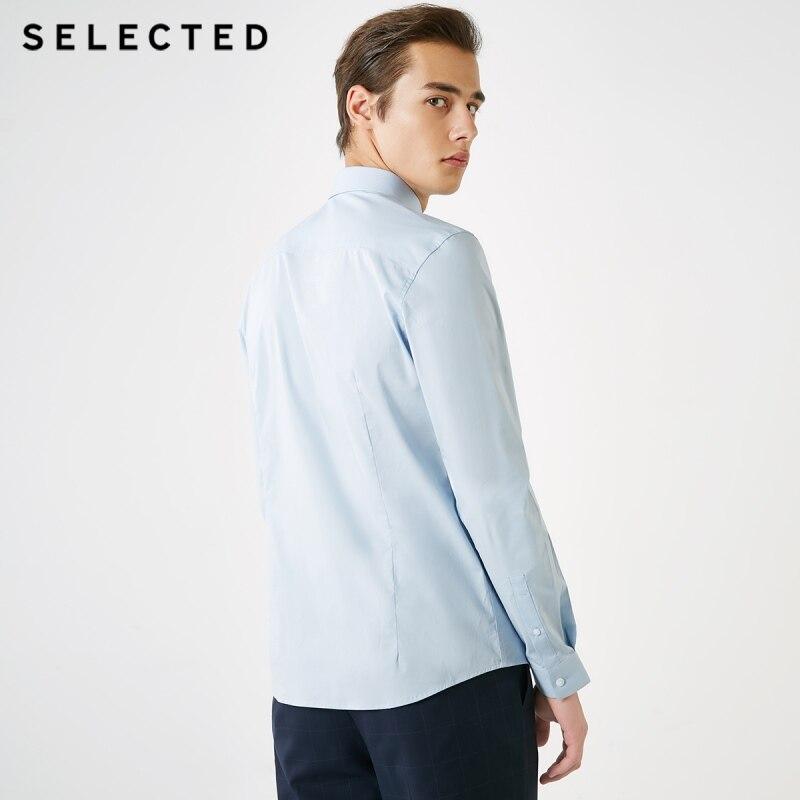 Hombres elegidos colibrí de bordado Slim Fit camisa de manga larga S  419105522 -in Camisas casuales from Ropa de hombre    3
