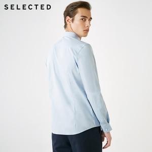 Image 3 - 選択された男性のハチドリ刺繍スリムフィット長袖シャツs