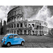 5D DIY Diamond Painting Cross Stitch Rome the Colosseum Of Home Decor Embroidery Full Square Diamond Mosaic wall art Z170 the cross to rome