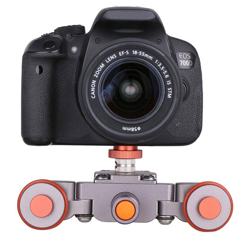 Мини 3-х колесный подвижный слайдер, гибкая моторизованная Автомобильная камера Dolly Car 360 градусов панорамная для iPhone DSLR камера видеокамера