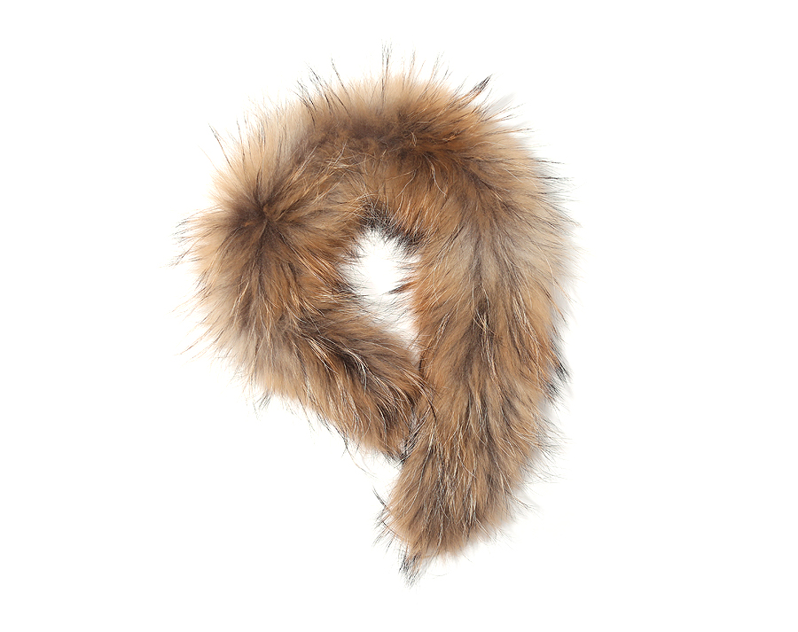 Harppihop*2019 Real Fur Collar 100% Genuine Raccoon Fur Scarf 70cm Fur Trim Of Down Coat Fur Strip/Hooded