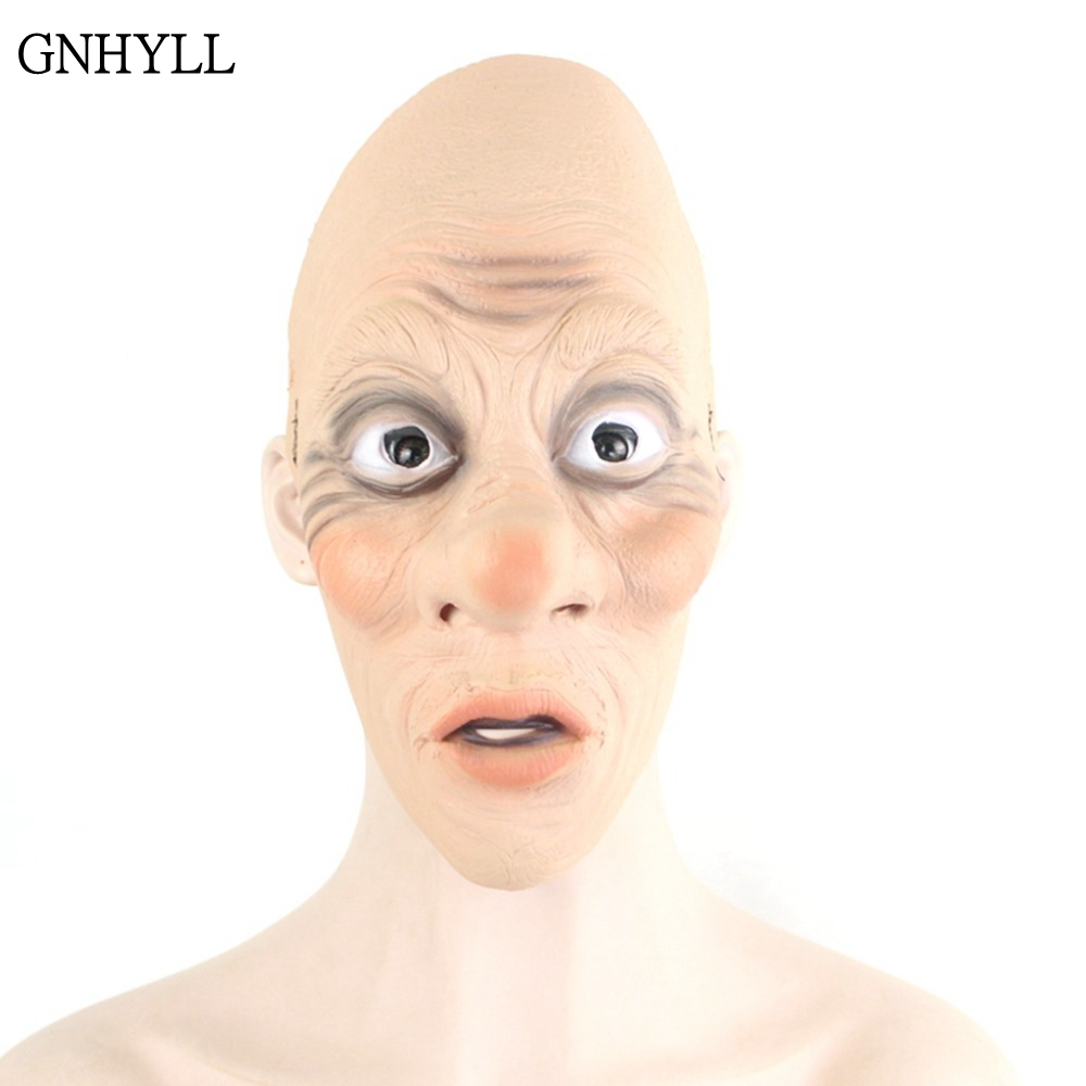GNHYLL Old Man Latex Mask Halloween Realistic People Full Face Rubber Masks Masquerade Cosplay Props Santa Claus
