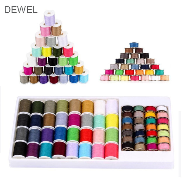 60 Spools/Set Colors Sewing Line Embroidery Thread Sewing Set Portable DIY Sewing Tools With Box For Handmade Sewing Machine