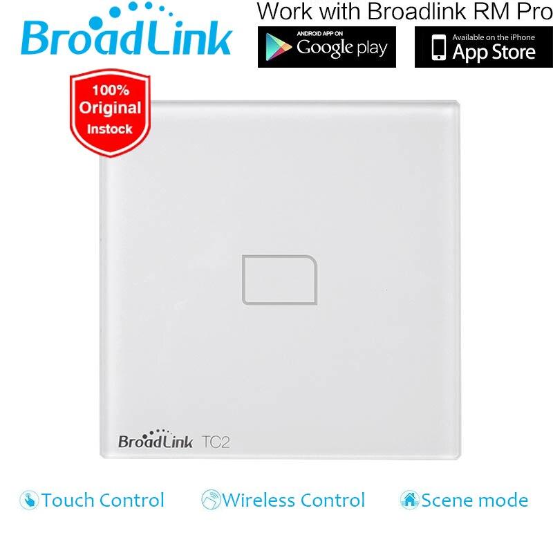 Broadlink TC2 EU UK Standard 1 2 3 Gang WiFi Remote Control Wall Light Switch Touch Screen 170V-240V RM2 RM Pro Smart Home