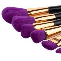 15pcs Makeup Brushes Set Purple Soft Thick Nylon Eye Foundation Powder Eyeshadow Blending Blush Brush Make