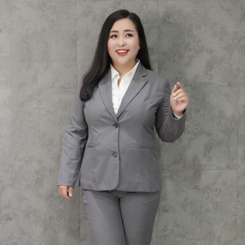 10xl Frauen Neue Frühling Herbst Große Größe Anzug Jacke Weibliche Mode Schlanke Professionelle Tragen Weibliche Temperament Einfarbig Anzug