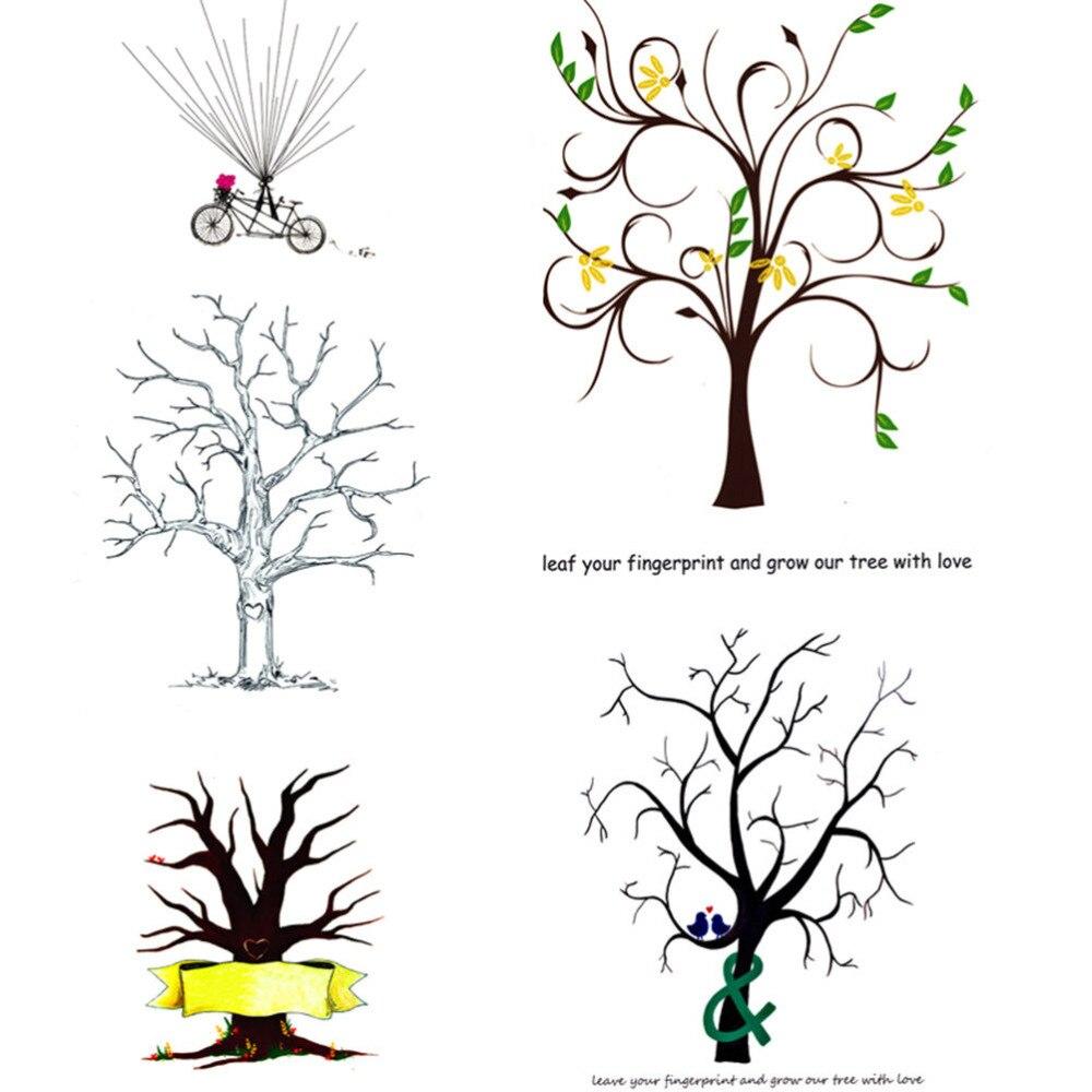 Baum Fur Fingerabdrucke Hochzeit Cn Leinen Hochzeit Baum