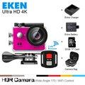 2017 Оригинал Экен 4 К Ultra HD WiFi камера действий спорта Тонкий Gopro Hero 4 Video Cam Go Подводный водонепроницаемая H9r pro стиль