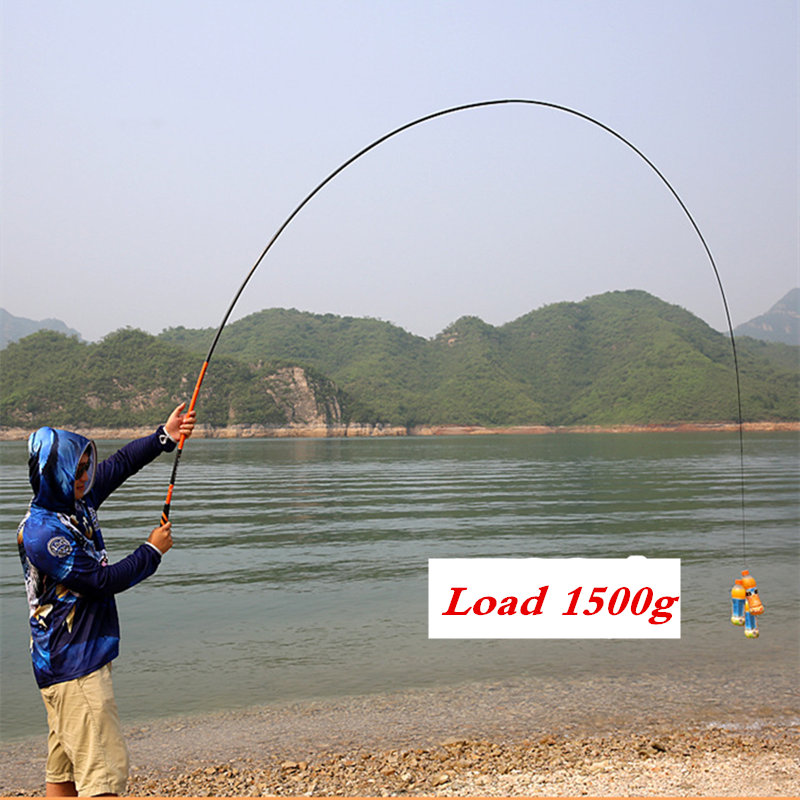 3.6-7.2M Portable Stream Fishing Rods Carbon MH Carp Casting Baitcasting Fishing Rods Power Hand Rod Stream Fishing Rods Tackles