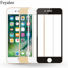 Full Coverage Tempered Glass For iPhone 6 6S 7 Plus Full Cover 9H Premium Screen Protector Guard Film For iPhone 6 6S 7 Case protective plastic back case tempered glass screen guard set for iphone 6 4 7 translucent white