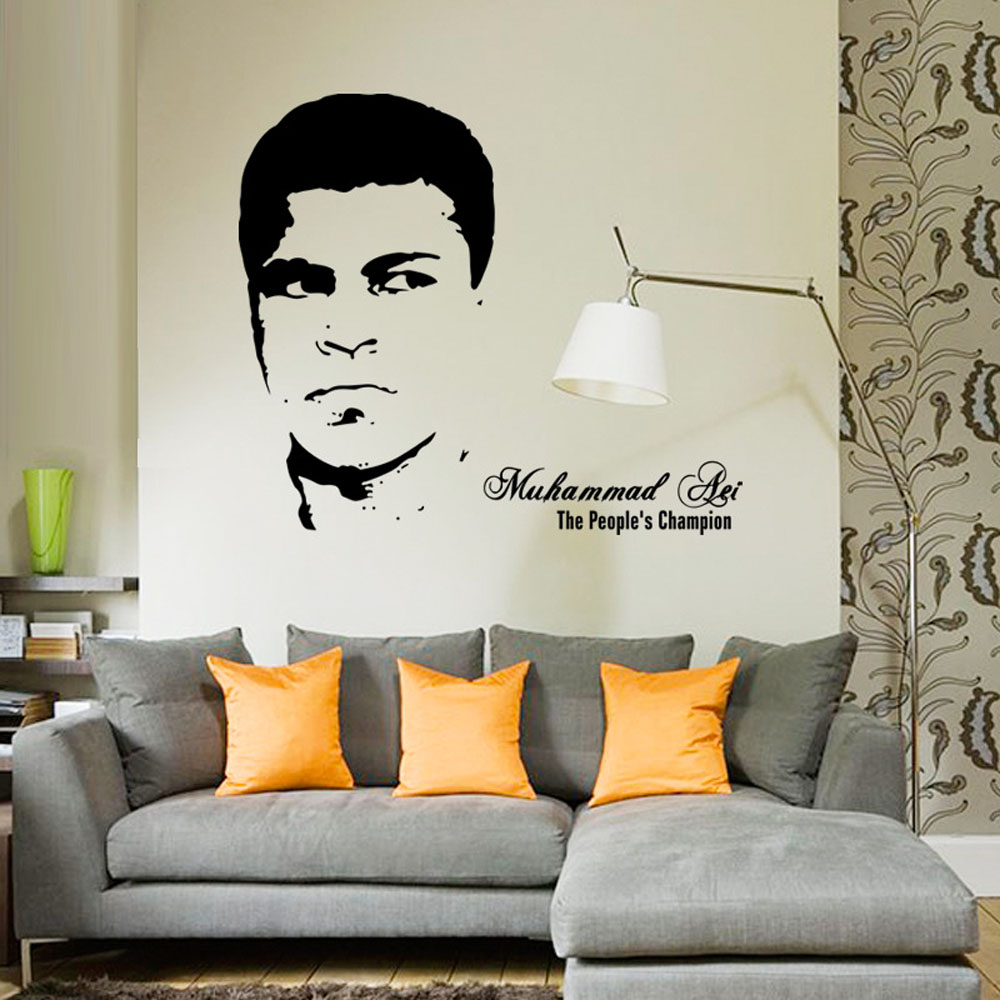 compare prices on wall decals living room online shopping buy low free shipping decorative waterproof vinyl muhammad ali wall sticker 3d living room wall decal china