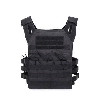 1000D Tactical Molle JPC Plate Carrier Combat Vest with Plates Hunting Paintball Black