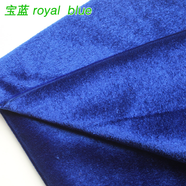Royal Blue Silk Velvet Fabric Velour Pleuche Table Cloth Cover Curtain Sold By The Yard
