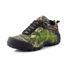 Étanche hommes chaussures de randonnée en plein air camouflage chasse montagne escalade low top sneaker de pêche camping trekking chaussures