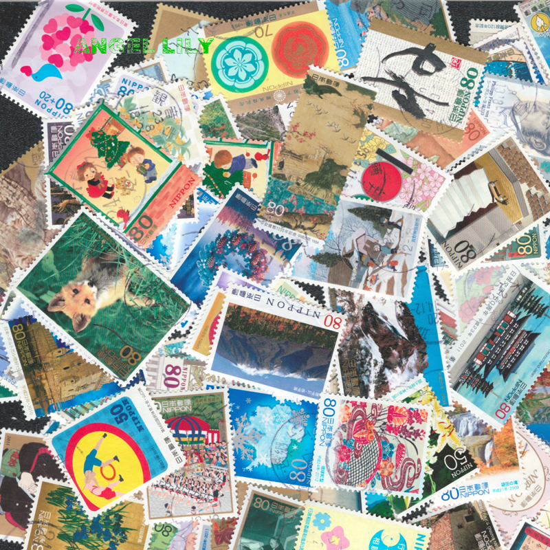 50 PCS All Different Japanese Have Used Postage Stamps With Post Mark Off Paper For Collection 100 pcs lot postage stamps good condition used with post mark from all the world stamp collecting estampillas de correo