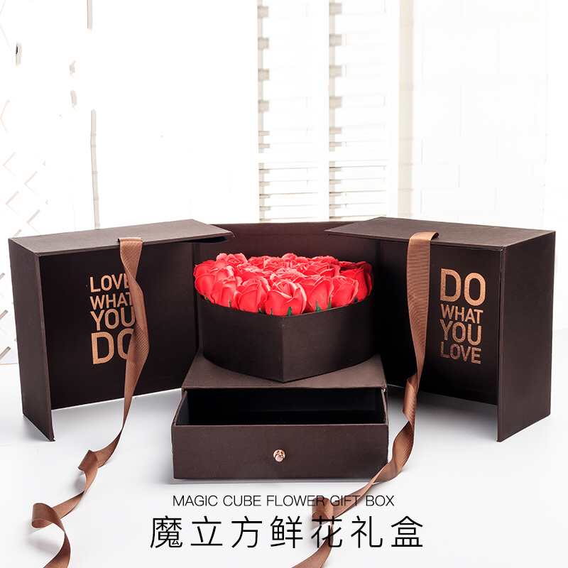 Boîte cadeau boîtes à fleurs décoratif tenir tiroir grande saint valentin copines femme anniversaire Surprise fleur papier boîtes-cadeaux