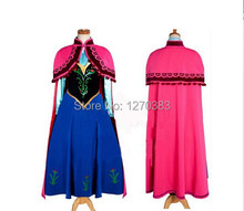 Free Shipping New 2014 Custom Made Movie Cosplay Fatasia Festa Party Princess Anna Costume Women Anna Dress