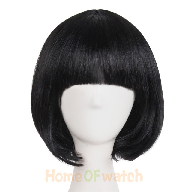 Short Straight Cosplay Bob Women Wigs Brown Blonde Black Green White Red Pink 16 Multicolor Female Synthetic hair MapofBeauty