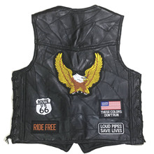 Motorcycle Jacket Mens Moto Vest Biker Retro Genuine Sheepskin Leather Chaqueta Veste Jaqueta Motoqueiro