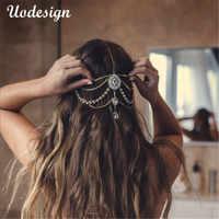 Bandeau en cristal Diamante bijoux de cheveux bijoux de tête de mariée de mariage, cadeau d'anniversaire de chaîne de tête boho