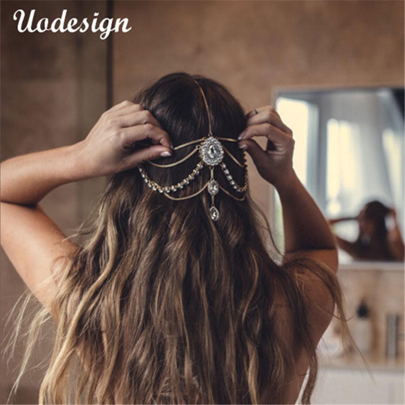 Full Crystal Diamante head band hair jewelry wedding bridal head Jewelry,head chain birthday gift boho душевой трап pestan tide 1 gold 150 мм 13000140