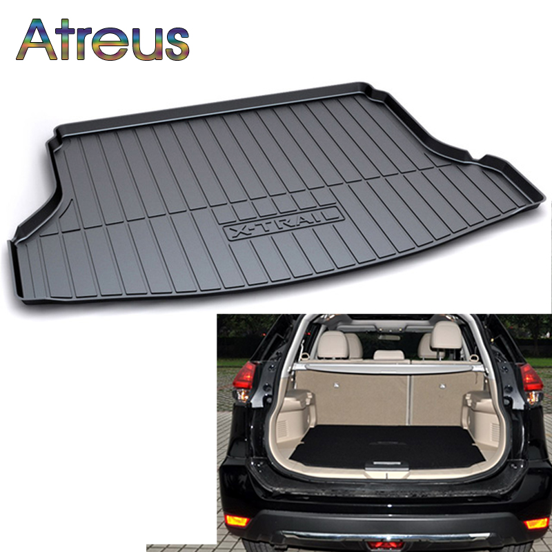 Atreus Car Rear Trunk Floor Mat Durable Carpet For Nissan X-trail T32 2014 2015 2016 2017 2018 Boot Liner Tray Waterproof mat trunk mat for ford mondeo 2008 2014 durable waterproof luggage mats tray for dogs