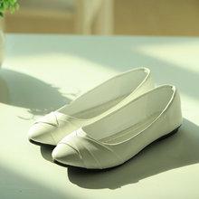 Femmes de Mode Chaussures Femme Appartements Printemps Chaussures Chaussures Bout Pointu Solide Casual Chaussures de Ballet Féminin CXD-801