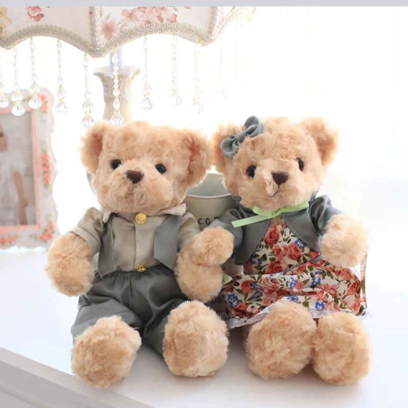 a pc/pair 30cm mini teddy bear plush toy  kids toys baby appease doll cute couple bear gift  for children and girlfriends super cute plush toy dog doll as a christmas gift for children s home decoration 20