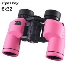 Buy online Pink/Black 8×32 Binoculars Eyeskey Porro Waterproof Binoculars Telescope Bak4 Prism Optics Compact for Camping